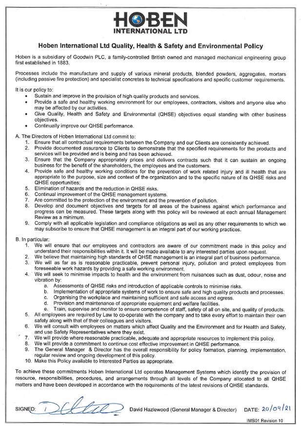 QHSE Cert Certificate